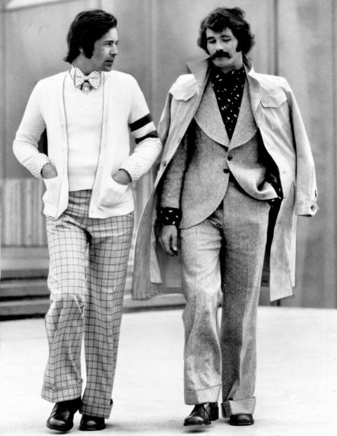 Two models in clothes from Mildred Custin Ltd. June 21, 1973. Morgue01