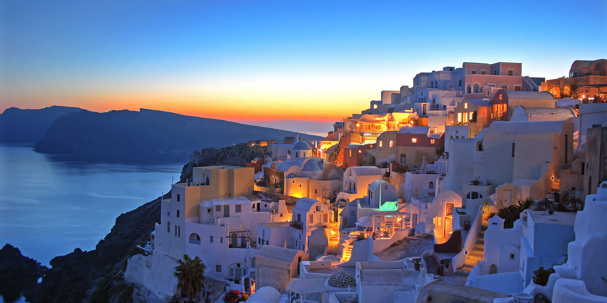 Romantic Sunset in Santorini