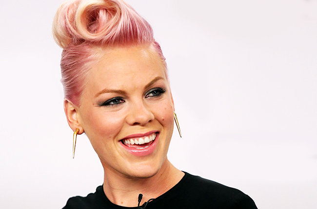 SANTA MONICA, CA - AUGUST 06: P!nk a.k.a Alecia Moore makes special Announcement for her newest project with Covergirl Cosmetics at Shutters On The Beach on August 6, 2012 in Santa Monica, California. (Photo by JB Lacroix/WireImage)